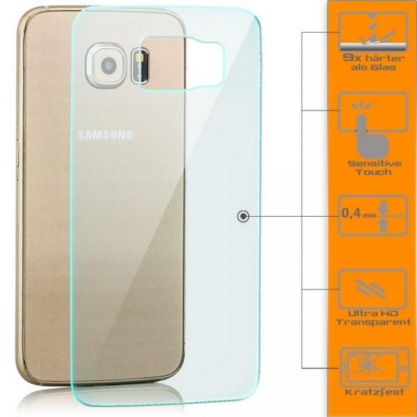 Panzerglas für Samsung Galaxy S6 Rückseite