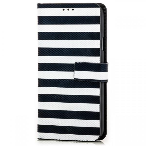 Slim Striped Case für Samsung Galaxy S5 Schwarz-Weiß