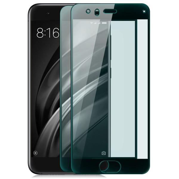 2x Full Cover Displayschutzglas für Xiaomi Mi 6 - Schwarz