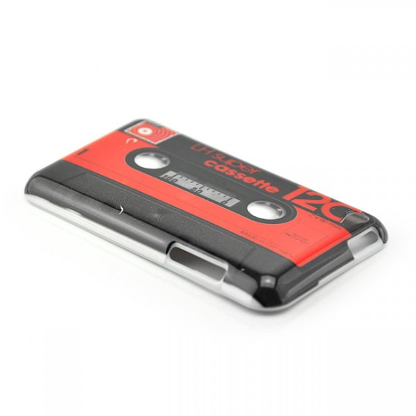 Kassetten Hard Case für Apple iPod Touch 4. Gen.Rot
