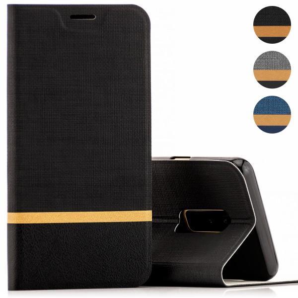 Kunstleder Streifen Tasche für LG -AUSWAHL-