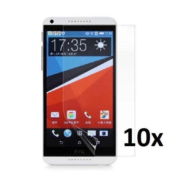 10x Displayschutzfolie für HTC Desire 816 Klar