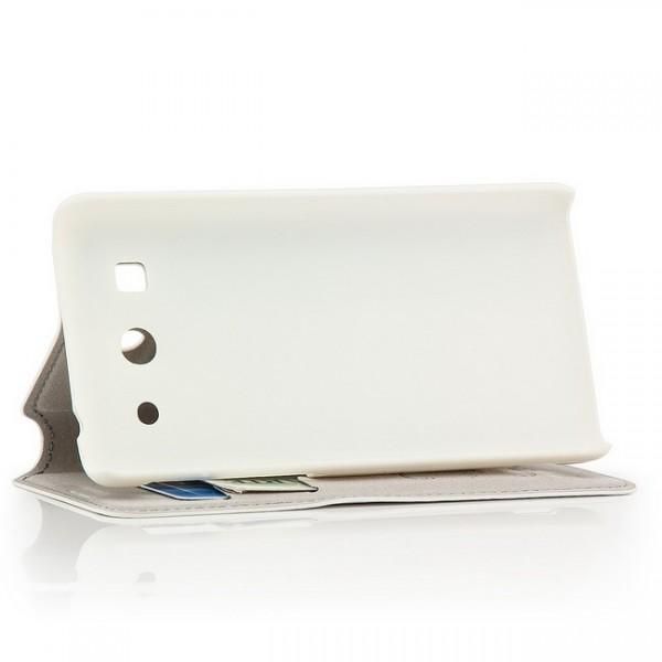 AZNS Flip Tasche für Huawei Ascend G520 G525 Weiß