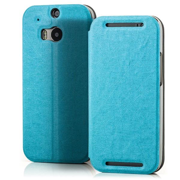 Slim Tasche für HTC One M8 Blau