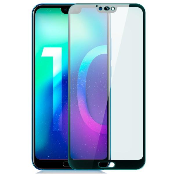 Full Cover Displayschutzglas für Huawei Honor 10 - Schwarz