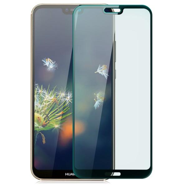 Full Cover Displayschutzglas für Huawei P20 Lite - Schwarz