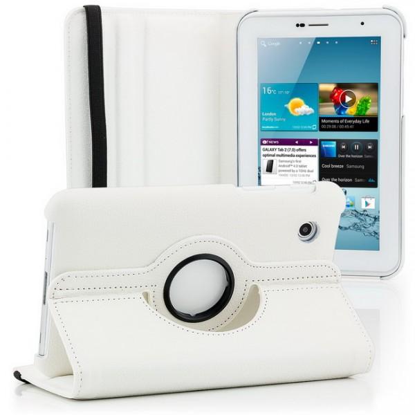 360° Tasche für Samsung Galaxy Tab P3100 Weiß