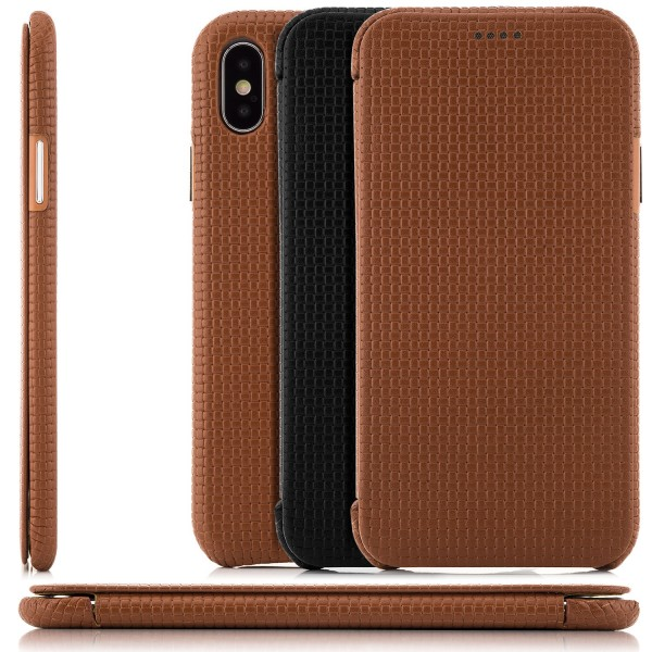 Zanasta Woven Pattern Curved Edge für Apple iPhone X -AUSWAHL-