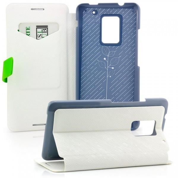 Baseus Flip Tasche für HTC One Max Weiß-Grün