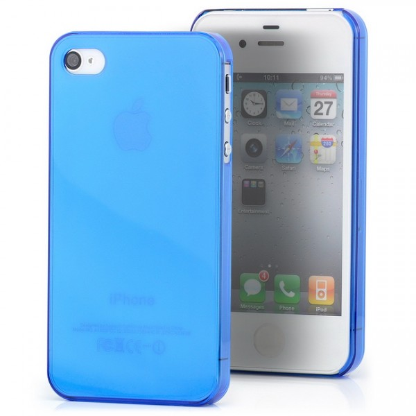 Ultra Slim Back Cover für Apple iPhone 4 & 4S Blau