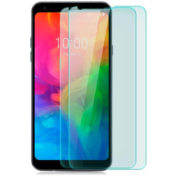 2x Displayschutzglas für LG Q7 Plus