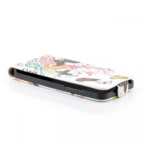 Schmetterlinge Flip Case mit Magnetverschluss für HTC One M4 Mini