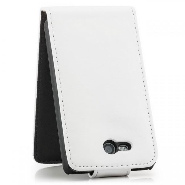 Business Flip Case für Nokia Lumia 820 Weiß