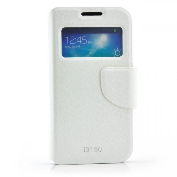 View Flip Tasche für Samsung Galaxy S4 Mini Weiß