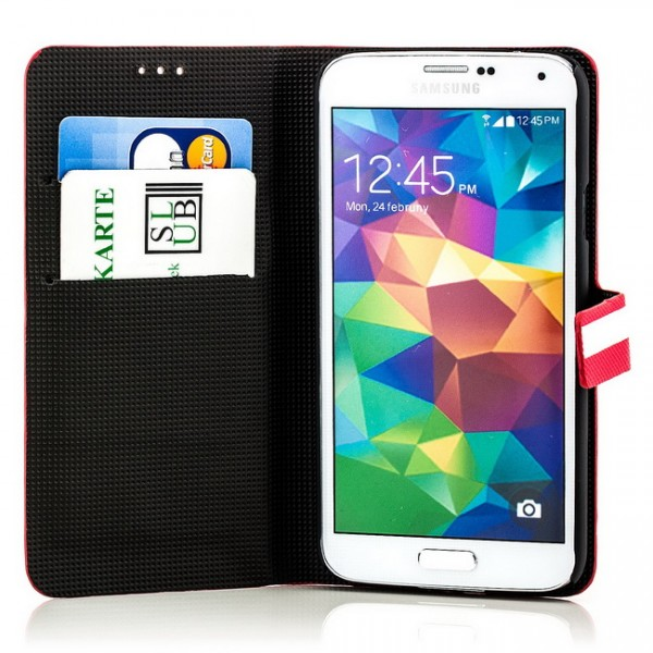 Slim Striped Case für Samsung Galaxy S5 Rot-Weiß