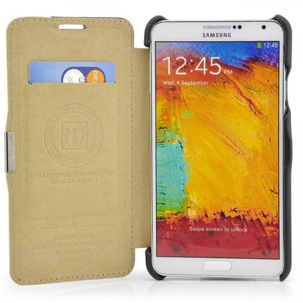 iCareR Colour Stripe Series Case für Samsung Galaxy Note 3 Schwarz-Weiß