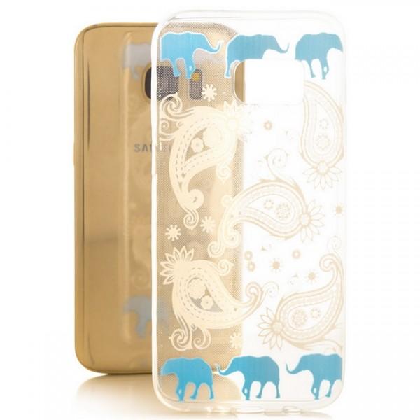 Silikon Motiv Case für Samsung Galaxy S7 - Elefanten