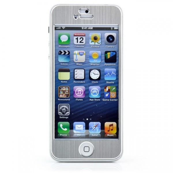 Aluminium Case für Apple iPhone SE + FOLIE - SILBER #