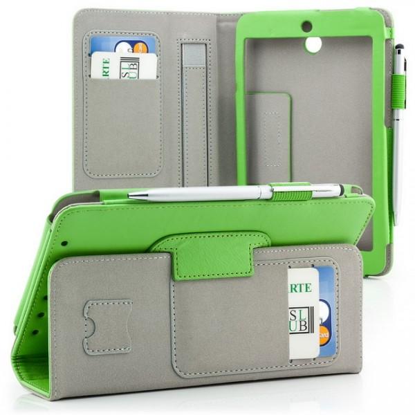 Tablet Tasche für Asus MeMO Pad HD 7 ME173X Grün + Stift