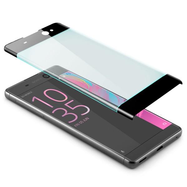 Curved Displayschutzglas für Sony Xperia XA Ultra - Schwarz