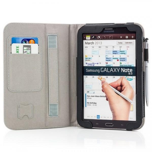 Tablet Tasche für Samsung Galaxy Note 8 Schwarz + Stift