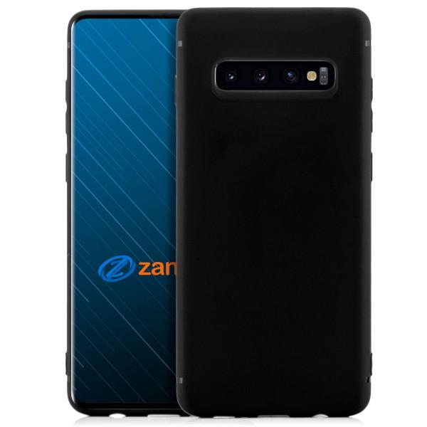 Handyhülle aus Silikon für Samsung S10 Plus - schwarz