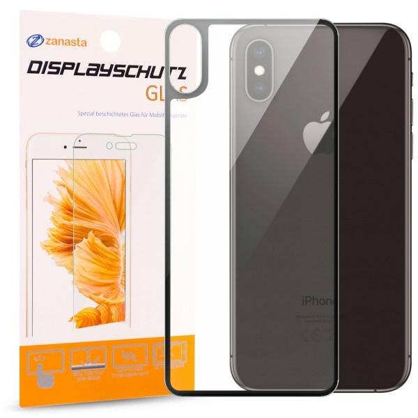 """Full Cover Rückseitenglas für Apple iPhone XS / X (5,8"""") - Schwarz"""