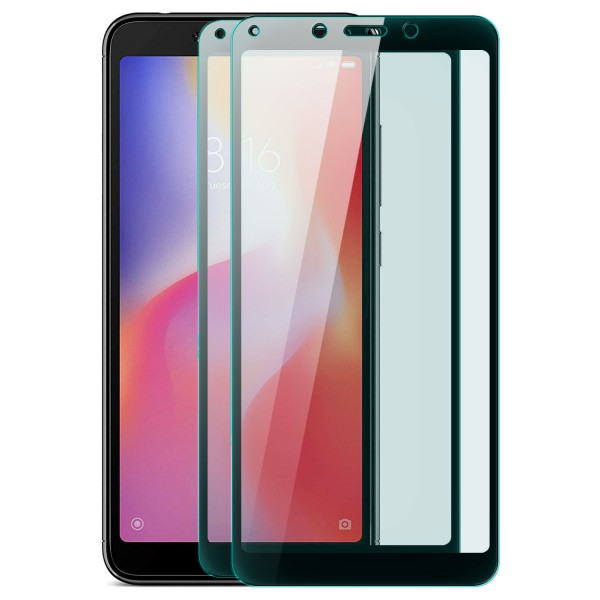 2x Full Cover Displayschutzglas für Xiaomi Redmi 6A - Schwarz