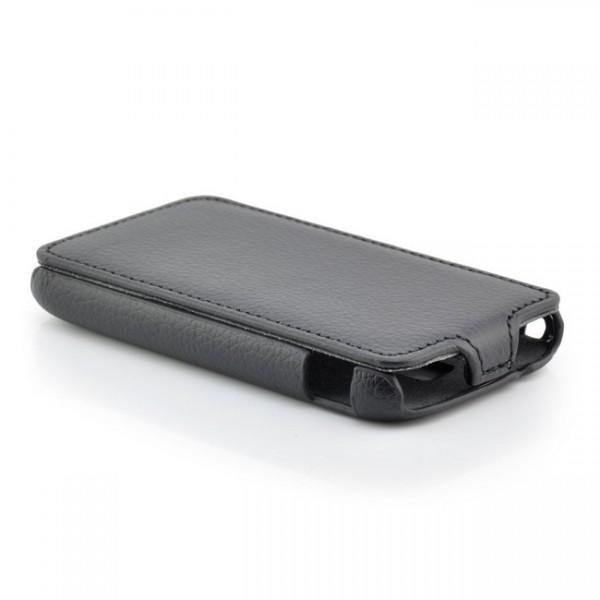 Flip Case für Samsung Galaxy Ace 2 Schwarz