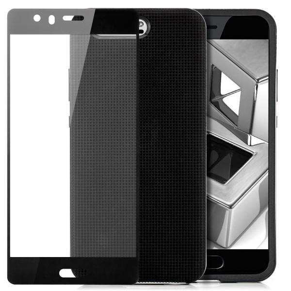AR-Silikon Back Cover für Huawei P10 - Schwarz-Silber + FC Glas S