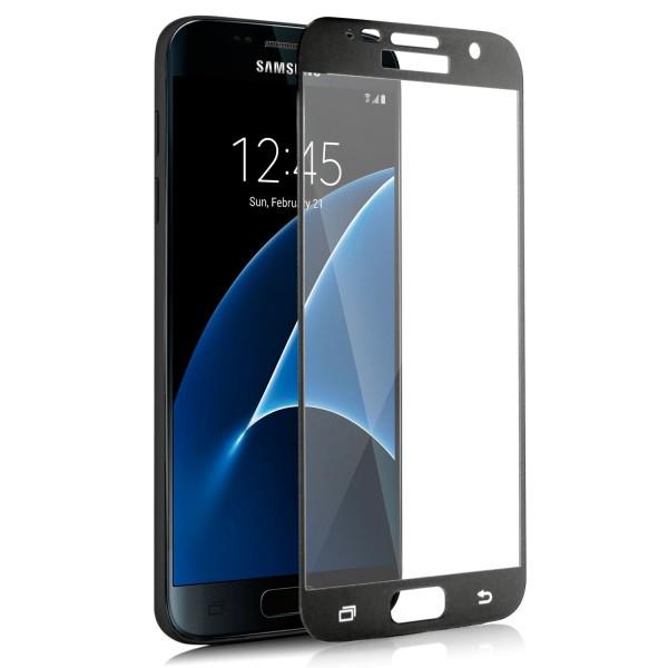 Full Displayschutzglas für Samsung Galaxy S7 - Schwarz