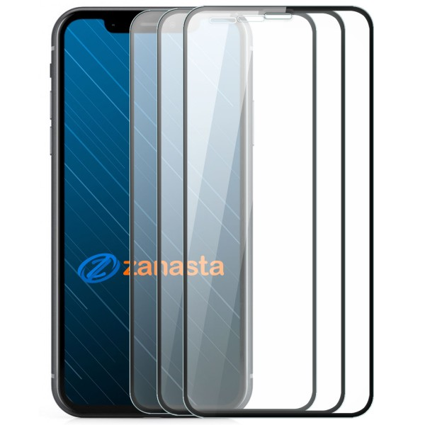"""3x Full Cover Displayschutzglas für Apple iPhone XS Max (6,5"""") - Schwarz"""