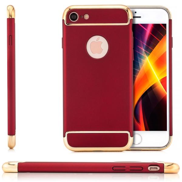 """Aluminium Style Hard Case für Apple iPhone 8 / 7 (4,7"""") - Rot"""