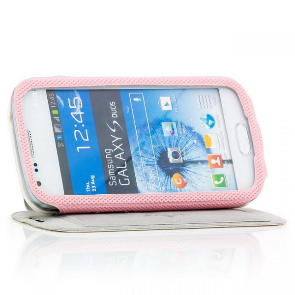 Slim Flip Hülle für Samsung Galaxy S Duos Weiß