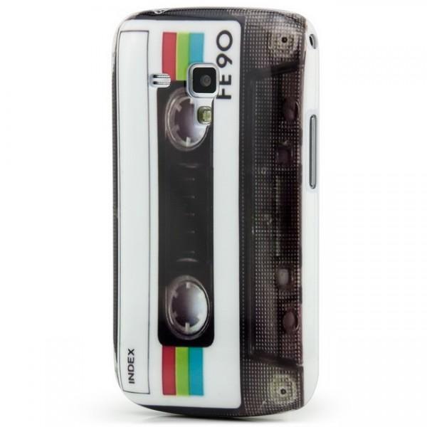 Kassette Back Cover für Samsung Galaxy S Duos Weiß