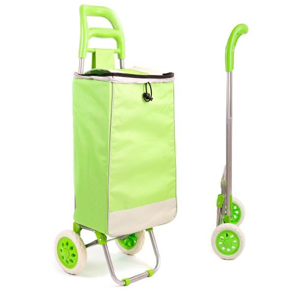 Faltbarer Einkaufstrolley mit 2 Rädern - Grün