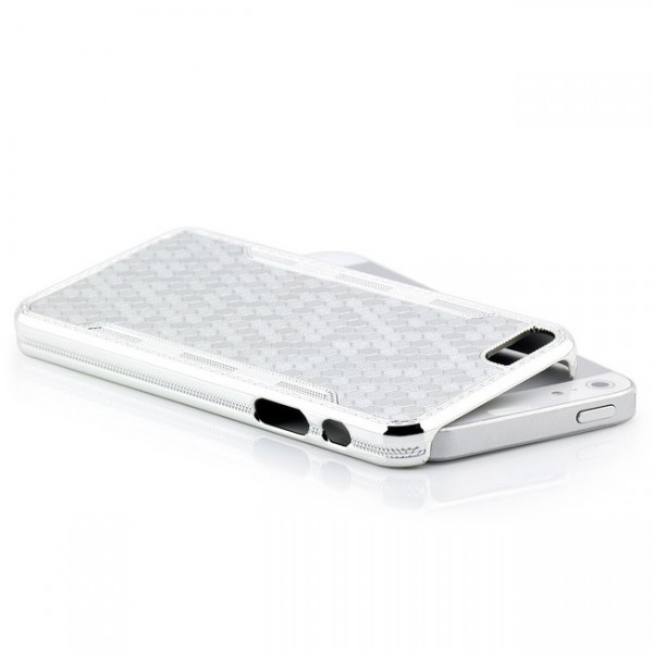 Cells Back Cover für Apple iPhone 5 & 5S Silber