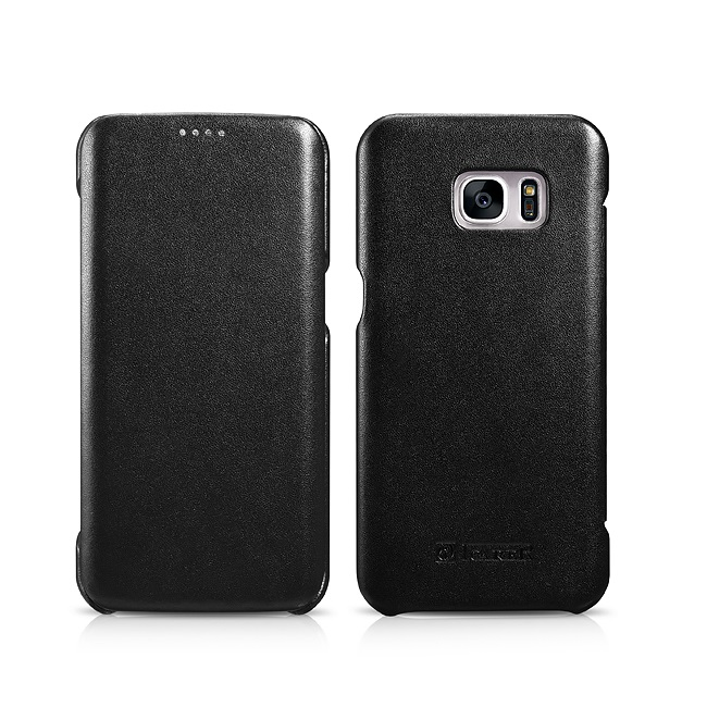 icarer echt leder case f r samsung galaxy s7 s7 edge handy tasche schutz h lle ebay. Black Bedroom Furniture Sets. Home Design Ideas