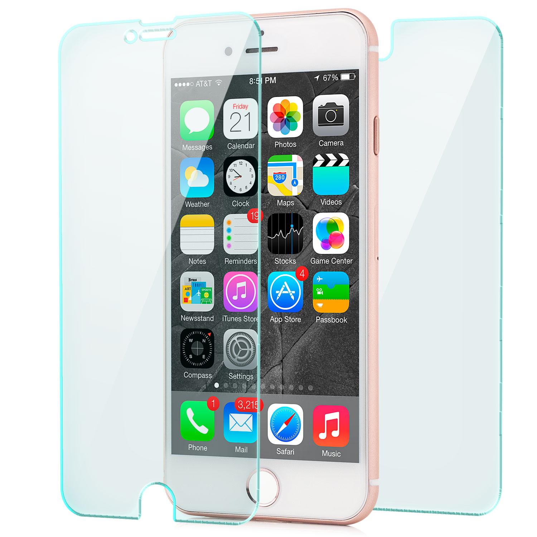 schutz glas set display r ckseite f r iphone 7 iphone 8. Black Bedroom Furniture Sets. Home Design Ideas