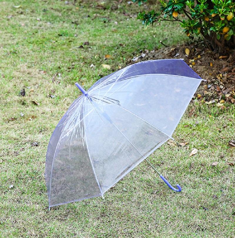 86 cm Transparenter Regenschirm durchsichtiger Stockschirm Schirm transparent c