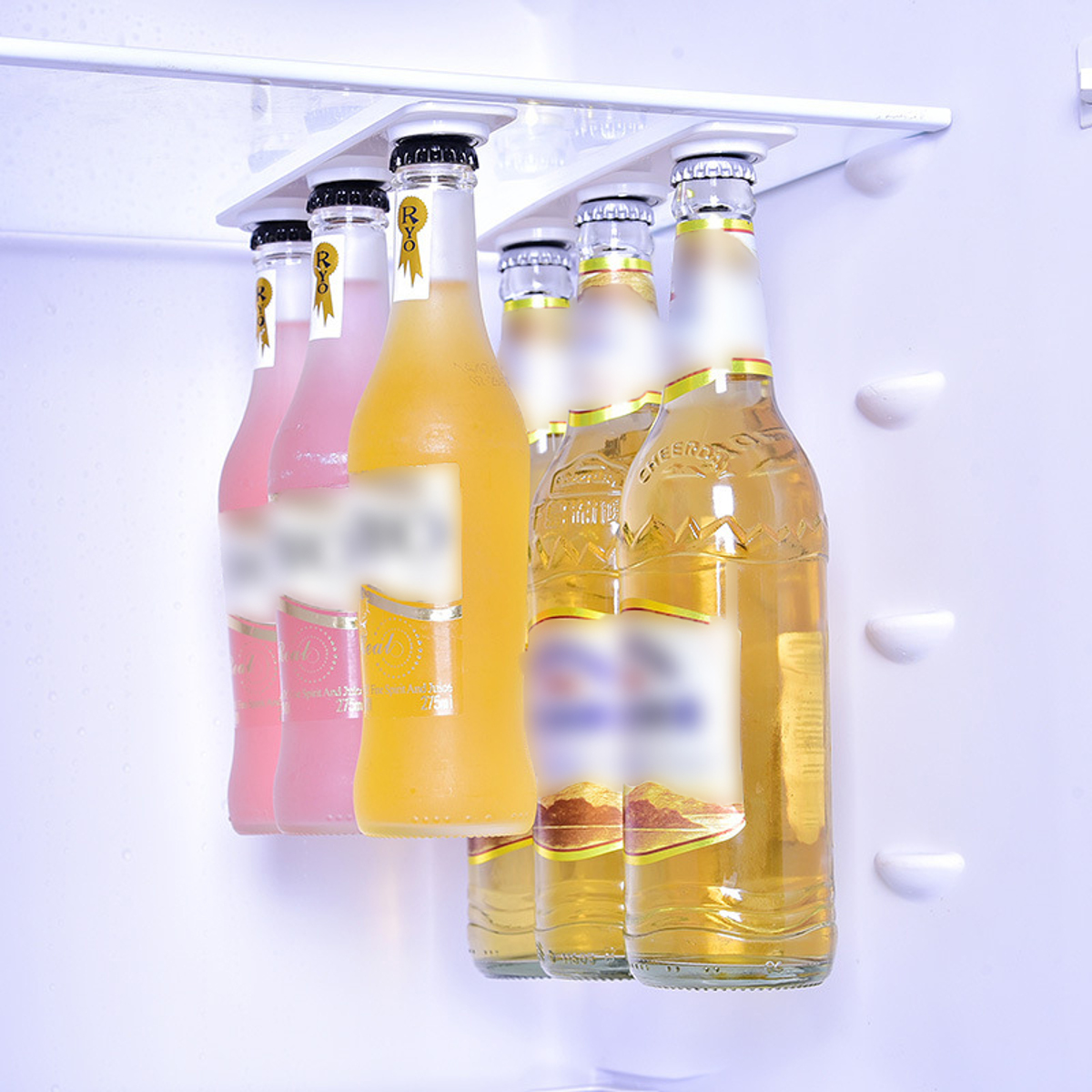 Flaschenhalter Flaschenregal Halter Getränke Bier Kühlschrank Lagerung Ablage