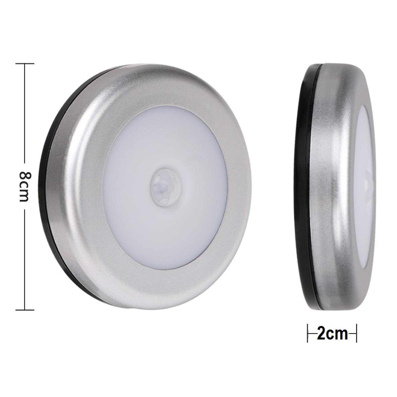 4x led nachtlicht mit bewegungsmelder sensor nachtleuchte lampe batterie wand ebay. Black Bedroom Furniture Sets. Home Design Ideas